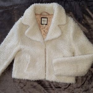 Forever 21 teddy bear cropped jacket